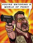 John Goodman as -Walter Sobchak in The Big Lebowsk by CaricaturEd