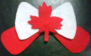 Canada Day Hair Clip by Zhonaluz