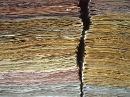dyed paper by Patiak