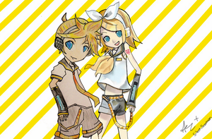 Rin and Len collab! (part 1) by Silentsnowman