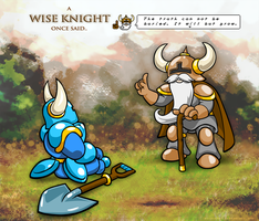 Wise Knight of Shovel Land by RothSothy