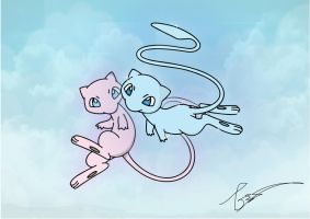 Floating Mew by FraankBiebs