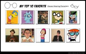 Top 10 Favorite Characters who Wear Glasses by SithVampireMaster27