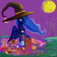 Luna's Nightmare Night by Teavian