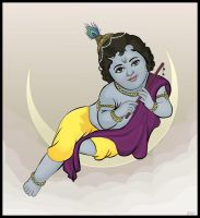 Vector Art - Baby Krishna by rames