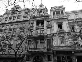 Maison des Chats and Musee du Nord building by Smaragd01