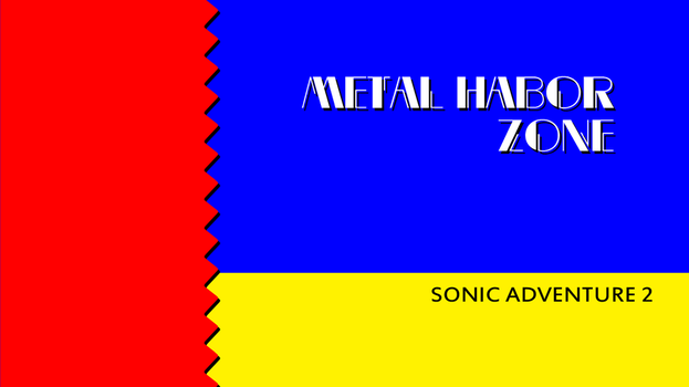 Sonic 2 Zone Title Card - Metal Harbor by Sonicguru
