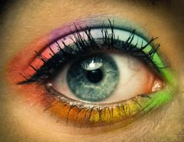 Rainbow Make-up by Meariku