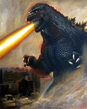 Godzilla Attack by Duncanmattocks