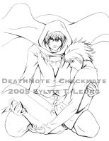 DeathNote - Checkmate -BW- by SylviaDraws