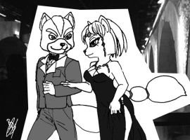 Fox and Krystal in gala by BlackBy