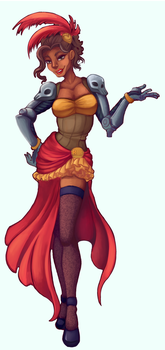 Saloon Girl Mccree by ArtisticallyChaotic