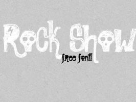 Rock Show free font' by sheiisperfect