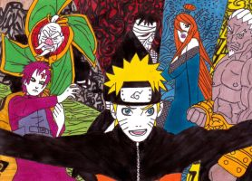 naruto and the kages by frecklesmile
