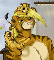 Daddy's Little Cubs by Jasiri-lioness