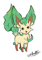 RD - Saria the Leafeon by TamarinFrog