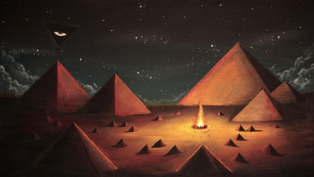 Town Of Pyramids by XkY
