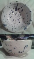 Blue Speckled Bowl by FlameRiverAlchemist