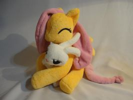 Fluttershy and Angel Plush by Sisk8508