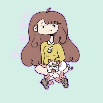 Bee and PuppyCat by nonessparelle
