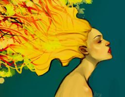 Exploding Girl by charlottevevers