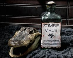 Zombie Virus Halloween Prop by BlackCatMagick