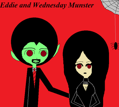 Eddie and Wednesday. by Rosie-Love98