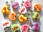 Rude Conversation Heart Charms by right2bearcharms