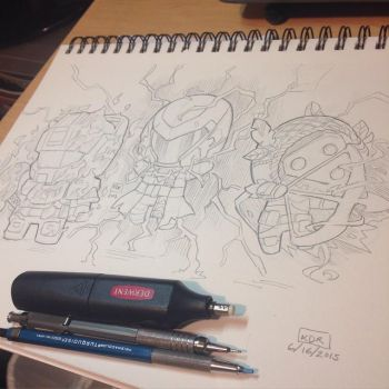 Chibi Guardians from Destiny by KevinRaganit