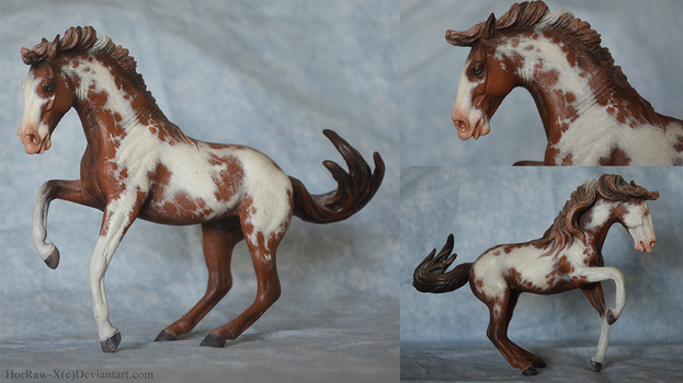 Chestnut pinto  CollectA custom  by HorRaw-X