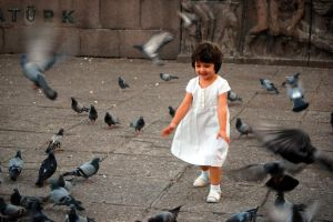 Birds and the child by ganara