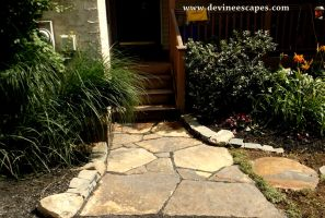Palmerton PA Hardscape, flagstone landscaping by Devine-Escapes