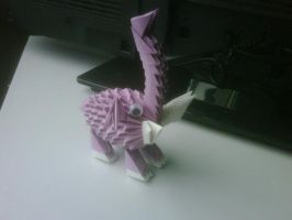 3D Origami Elephant Purple by SeemsGood