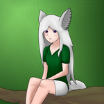 Animela - In a tree - Redraw by Animela-WolfHybrid