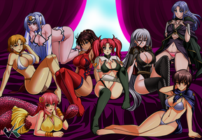 Commission: Geistis Harem by jadenkaiba