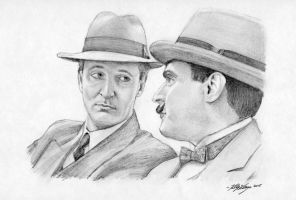 Poirot and Hastings by auggie101