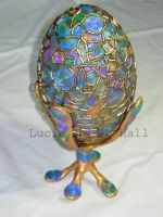 Peacock Egg by MamaLucia