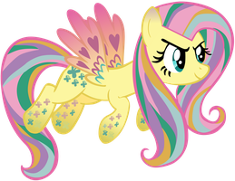 My first vector of, Rainbowshy. by Flutterflyraptor