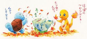 Pokemon's autumn by ichiyon