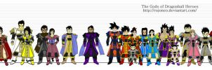 Dragonball Heroes Saiyan Gods Lineup (updated) by Rojoneo