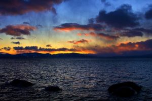 Tahoe Winter Sunset by sellsworth