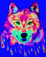 Crying Wolf (black light) by nicostars