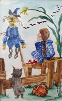 Dorothy and Scarecrow by kielymb