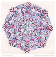 Winter Dreams Mandala by Quaddles-Roost
