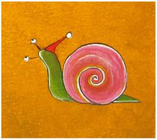christmas snail CLOSE UP by Adnil