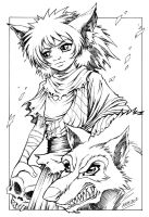 Tristan and The wolf... by Karafactory
