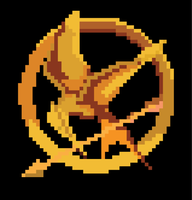 8-Bit Mockingjay Pin by jaaawn