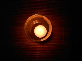 Candle Glass Bamboo by cdooginz