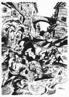 FRANKENSTEIN AND THE MOB by benitogallego