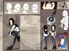Reference Sheet : Reira Ito : by Ajdra